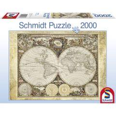 Puzzle Schmidt 2000 piese: Harta istorică a lumii