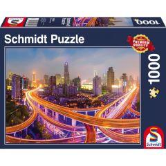 Puzzle Schmidt 1000 piese: Luminile marelui oraș