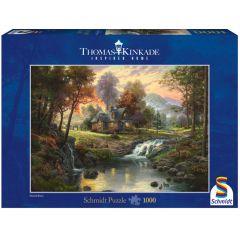Puzzle Schmidt 1000 piese Thomas Kinkade: Cabană la munte