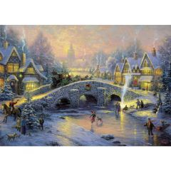 Puzzle Schmidt 1000 piese Thomas Kinkade: Spiritul Crăciunului