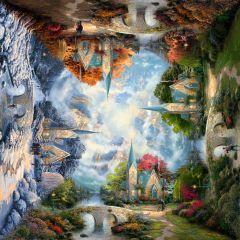Puzzle Schmidt 1000 piese Thomas Kinkade: Capelă