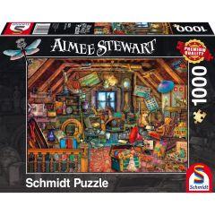 Puzzle Schmidt 1000 piese Aimée Stewart: Comori în mansardă