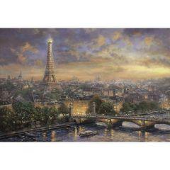 Puzzle Schmidt 1000 piese Thomas Kinkade: Paris, orașul iubirii
