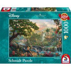 Puzzle Schmidt 1000 piese Disney Thomas Kinkade: Disney Carte Junglei