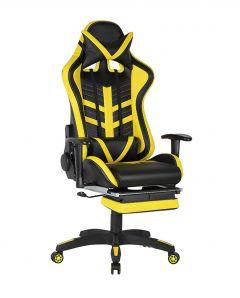 Scaun gamer US78 Racing Pro negru-galben