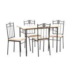 Set masa Victory natur cu 4 scaune