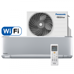 Aer conditionat Panasonic XZ25TKE Etherea Silver, Wi-Fi, Inverter Plus, 9000 BTU/h, R32, Clasa A+++, Econavi, Humidity Control