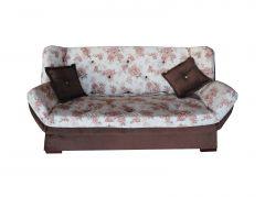 Canapea Extensibila 3 locuri Zara, maro inchis cu flori