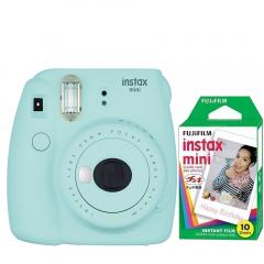 Pachet Camera foto instant Fujifilm Instax mini 9, Ice Blue cu 10 filme incluse