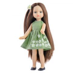 Papusa ESTELA in rochie verde - Mini Amigas, 21 cm - Paola Reina