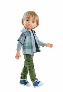 Baietelul LUIS cu pantaloni verzi, 32 cm - Paola Reina