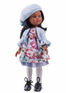 Papusa Nora in rochie cu floricele, 32 cm - Paola Reina