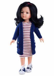 Papusa Liu in rochie cu dungi, 32 cm - Paola Reina