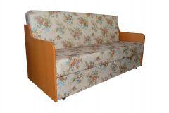Canapea Sanda,extensibila,lada de depozitare Crem cu Flori ,186X84X91 cm