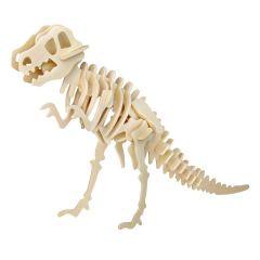 Puzzle 3D lemn dinozaur T-Rex 28 piese
