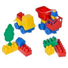 Set 40 Cuburi mari tip lego diverse forme