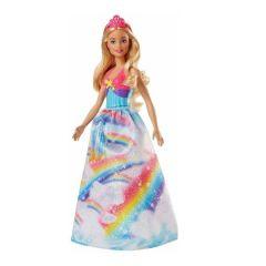Papusa Barbie Dreamtopia Printesa, Rochie Rainbow