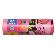 Saci menajeri EPACK POP-ART cu snur  35L  (20buc)