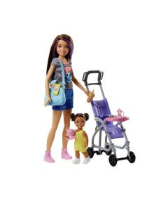 Papusa Barbie Skipper, bona, plimbare cu bebelus