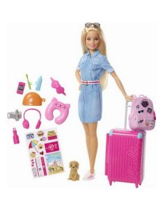 Papusa Barbie Calatorie, Travel Doll and Travel Accessories