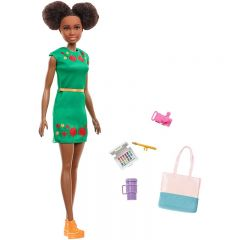 Papusa Nikki Barbie afro, cu accesorii pentru calatorii