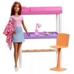 Set de joaca Barbie Mobilier Dormitor, cu papusa inclusa
