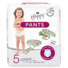 Scutece-chilotel Happy Pants Junior 11-18kg 22buc