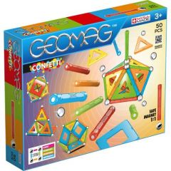 Set de constructie magnetic Geomag Confetti 50 piese