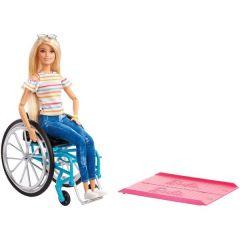 Papusa Barbie Fashionistas 132 in scaun cu rotile