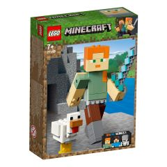 LEGO Minecraft Alex Minecraft BigFig cu gaina 21149