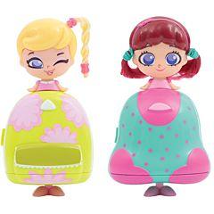 Set 2 Gentute cu Cosmetice Kekilou Transformabile in Papusi Joyce si Daisy