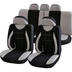 Set huse auto Procar Elegance, 11 buc, Negru/Gri