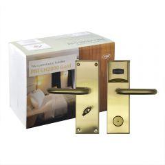 Yala control acces hotelier PNI CH2000R Gold cu cititor de card deschidere pe partea dreapta