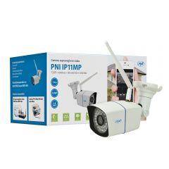 Camera supraveghere video PNI IP11MP 720p wireless cu IP de exterior si interior pt. WiFi400