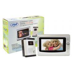 Interfon video cu 1 monitor PNI DF-926 cu ecran LCD de 7 inch