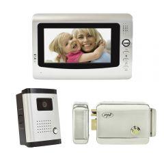 Kit interfon video cu 1 monitor PNI DF-926 cu ecran LCD de 7 inch si yala electromagnetica PNI H1085A