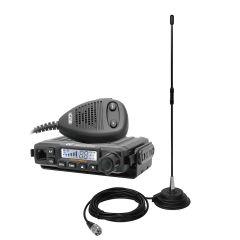 Kit statie radio CB CRT MILLENIUM + Antena PNI Extra 40