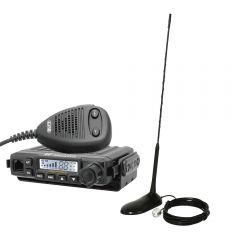 Kit statie radio CB CRT MILLENIUM + Antena PNI Extra 45
