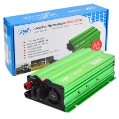 Invertor de tensiune PNI L500W alimentare duala 12V/24V iesire 230V