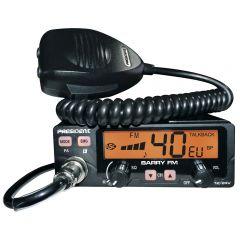Statie radio CB President BARRY ASC AM/FM 12V/24V cu squelch automat cod TXPE002