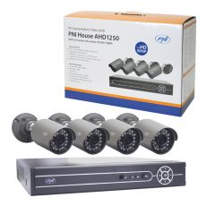 Kit supraveghere video PNI House AHD1250 - NVR si 4 camere exterior full HD 1080P 2MP