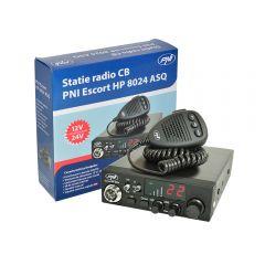 Kit Statie radio CB PNI ESCORT HP 8024 ASQ 12/24V + Carcasa 1DIN + Antena CB PNI ML160 Fara cablu