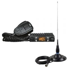 Kit Statie radio CB CRT ONE N + Antena PNI ML145 cu magnet 145/PL