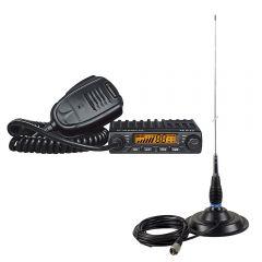 Kit Statie radio CB Albrecht AE 6110 ASQ + Antena PNI ML145 cu magnet 145/PL