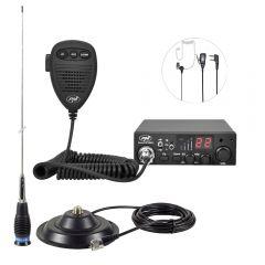Kit Statie radio CB PNI ESCORT HP 8001L ASQ + Antena CB PNI ML145 cu magnet 145/PL