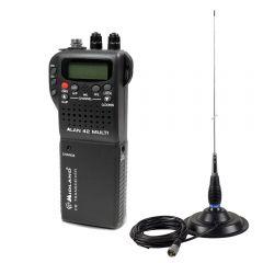 Kit Statie radio CB Midland Alan 42 + Antena CB PNI ML145 cu magnet 145/PL