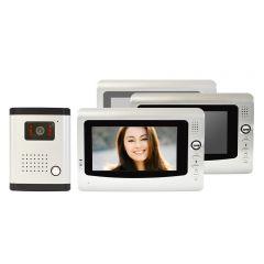 Interfon video cu 3 monitoare model PNI DF-926-3 cu ecran LCD de 7 inch