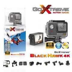 Camera Video de Actiune GoXtreme BLACK HAWK, 4K@30fps, WiFi, 170 grade, SENZOR PRO Sony IMX117 12.4 MPx + PROCESOR PRO Ambarella 12, 16 MPx, Scufundare 60m (INCLUDE 6 Accesorii) - similar GP Hero4 BLACK!