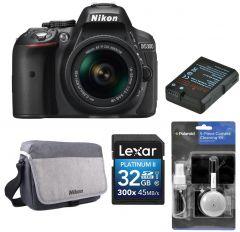 Aparat foto DSLR Nikon D5300 + Obiectiv AF-P 18-55mm AF-P VR +BONUS: Geanta NIKON, Card 32GB, Acumulator suplimentar Jupio EN-EL14 si KIT Curatare 5in1 Polaroid