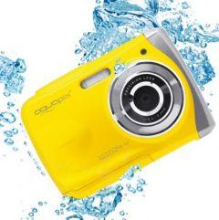 Aparat foto digital EasyPix W1024 Splash Waterproof, 16 MPx, Galben + Bonus Husa